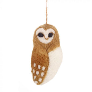 Owl - Felt Hanging Decoration
