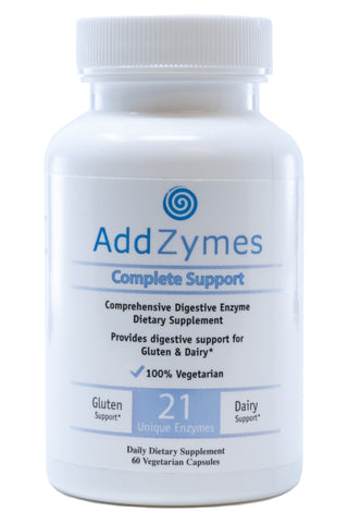 Image of a bottle of BlueBiology Addzyme digestive enzymes