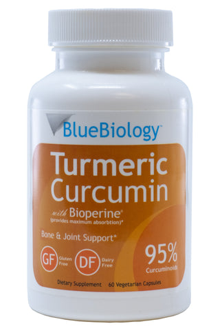 Image of a bottle of BlueBiology Turmeric Curcumin
