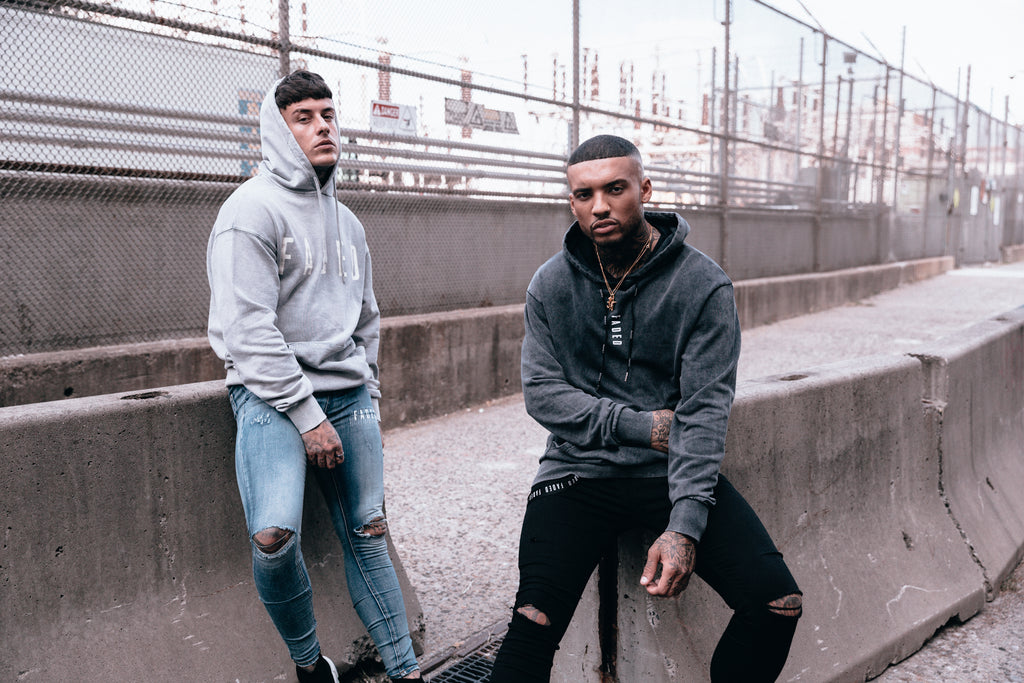 2 Models wearing FADED Hoodies from the streetwear collection