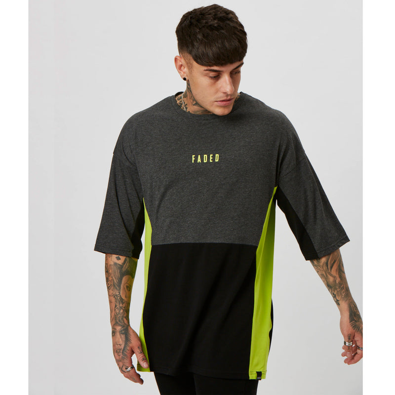 Neon Space Tee | Black Charcoal