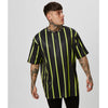 Neon Big Stripe Tee | Black Neon