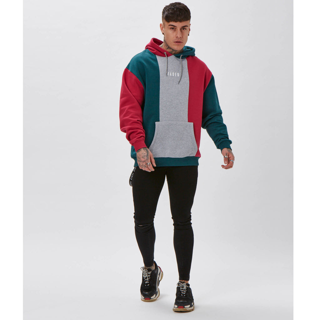 Tri-Coloured Hoody | Multi