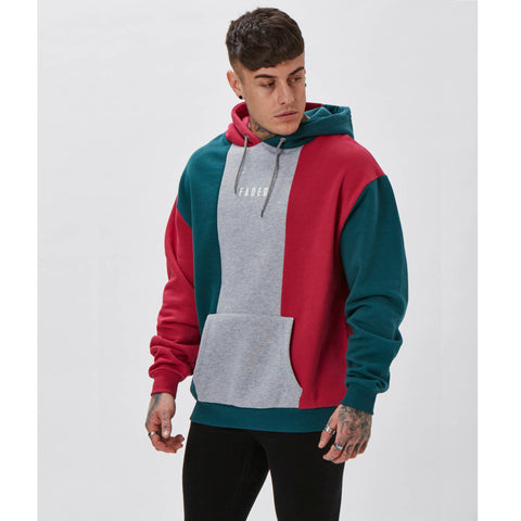 Tri-coloured Hoody