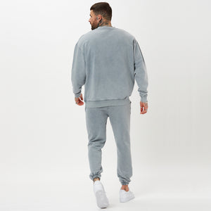mens full tracksuit back shot - acid wash