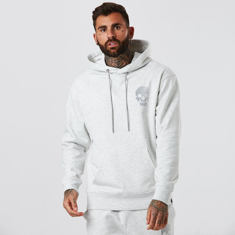 Mini Skull Hoody | Snow Marl