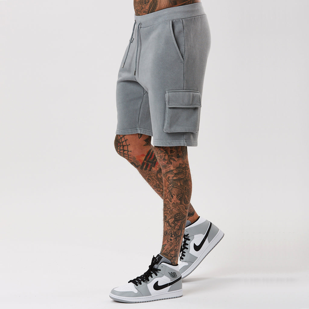 Washed Utility Short | Grey