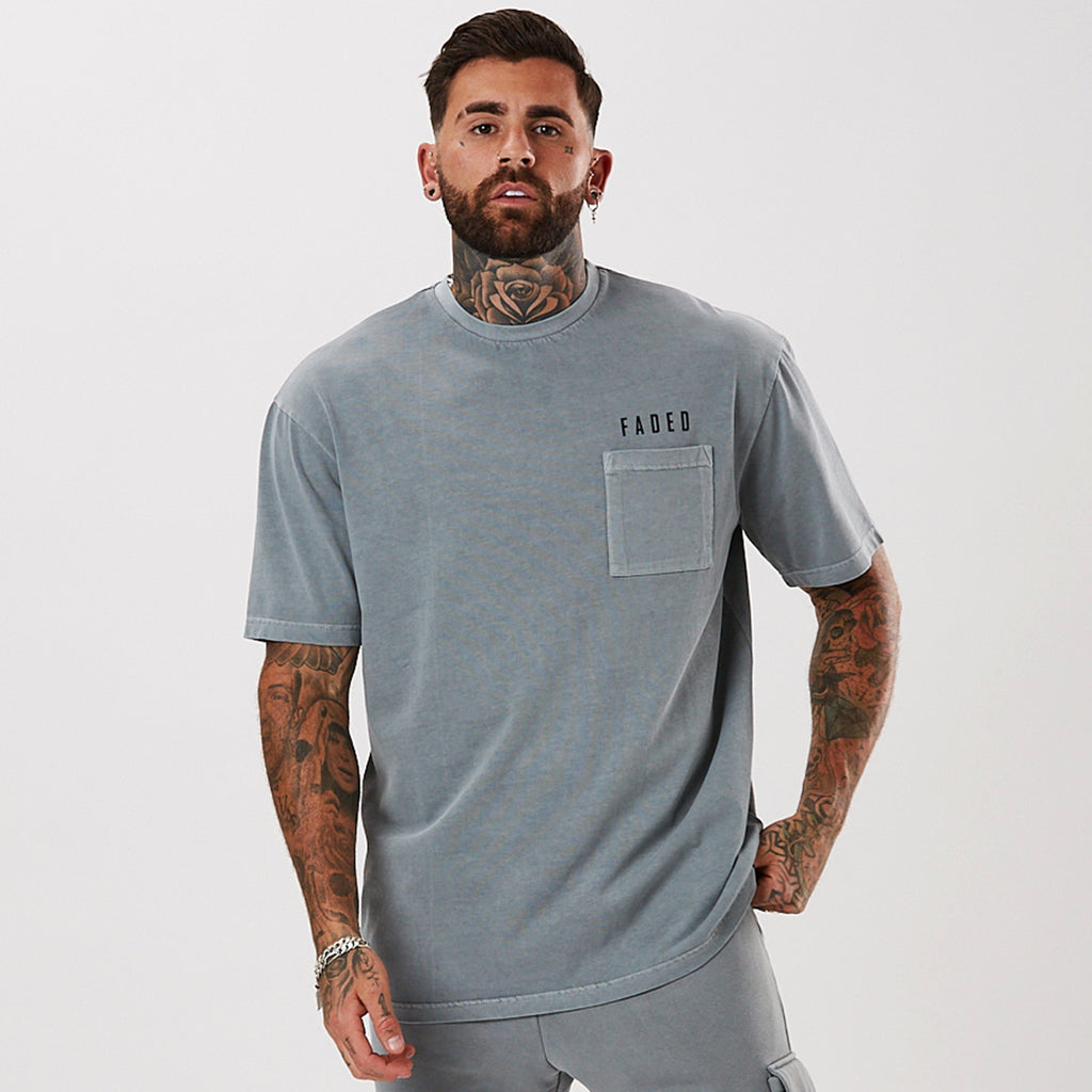 Washed Pocket Tee | Grey