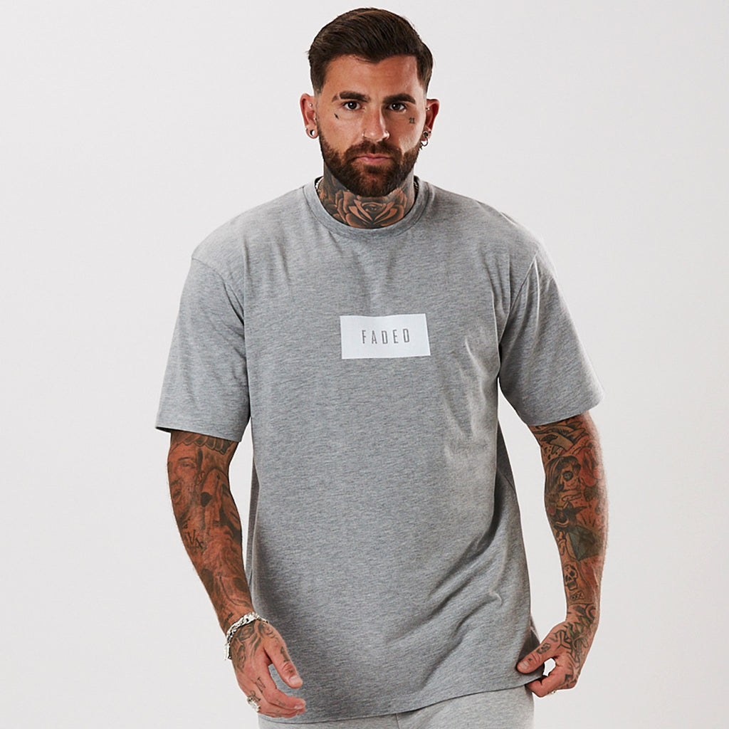 Box Logo Tee | Grey