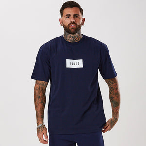 Box Logo Tee | Navy