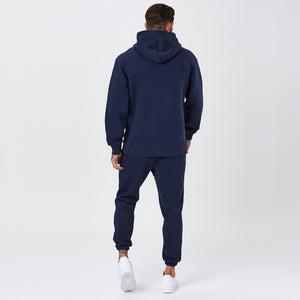 Back View of Classic Logo Mens Full Tracksuit in Navy