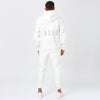 Behind View of Model Wearing The Mens Full Tracksuit in Off-White