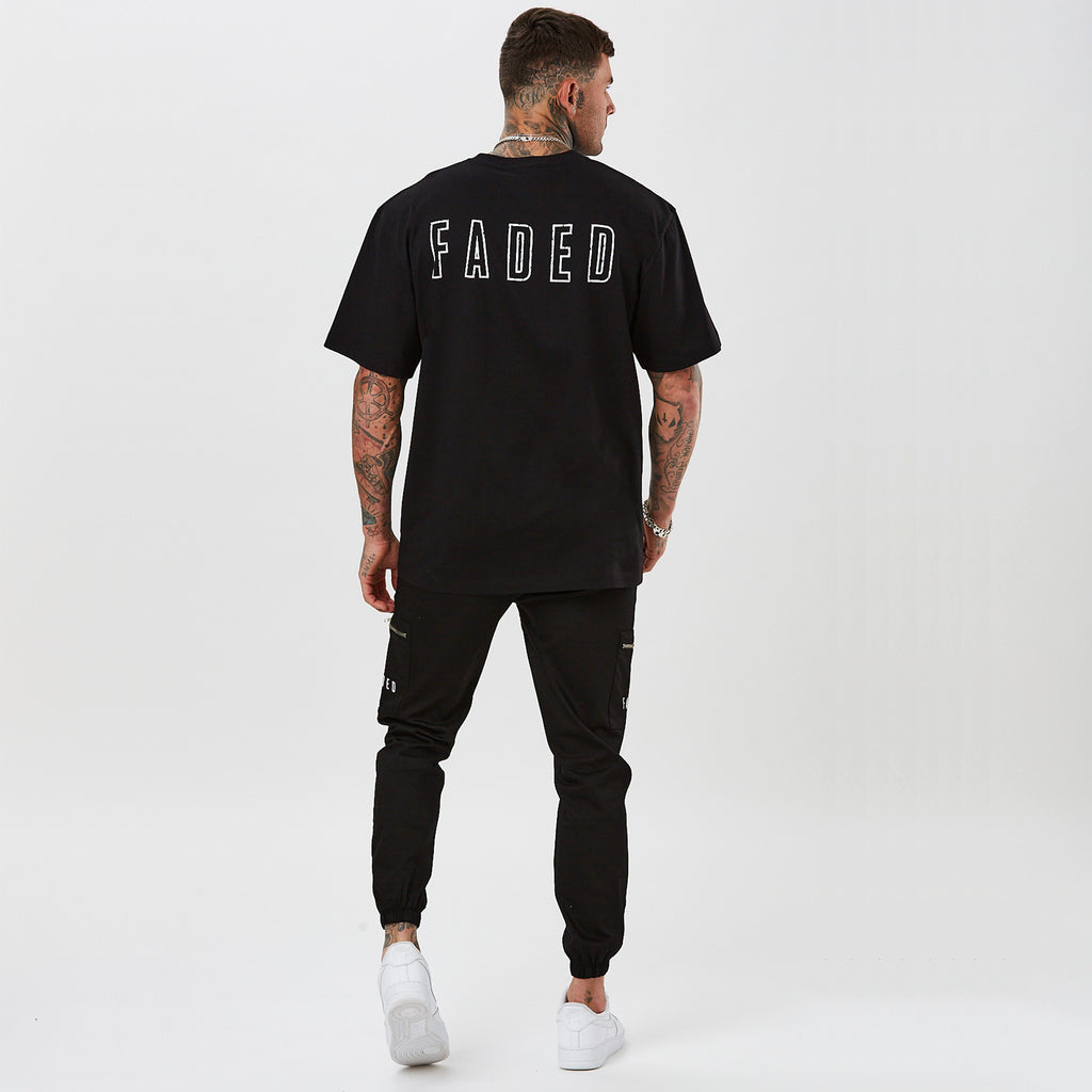 Mens oversized t-shirt with FADED branding on the back