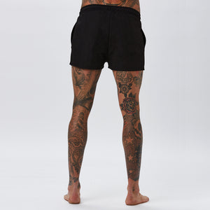 Double Logo Swimshort | Black