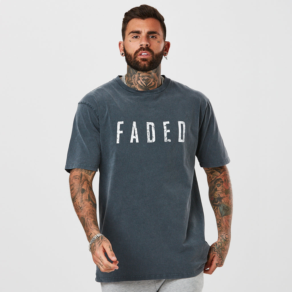 Distressed Logo Tee | Acid