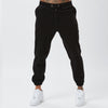 Front View of Black Polar Fleece Joggers From The Mens Full Tracksuit