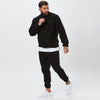 Model In Black Polar Fleece Mens Full Tracksuit