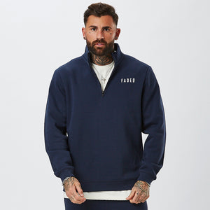 Chest Logo 1/2 Zip | Navy