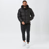 Hooded Puffa Jacket | Black