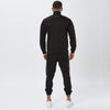Behind View Of Black Poly Tracksuit