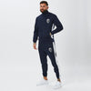 Model Wearing Mens Full Tracksuit in Navy