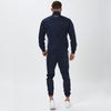 Behind View of Model in Mens Navy Full Tracksuit