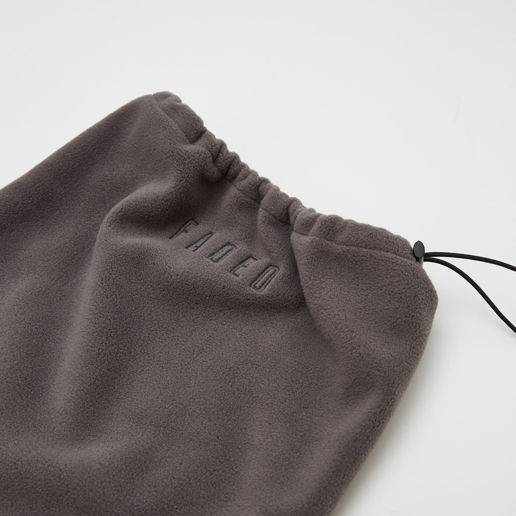 Faded Embroidered Snood | Grey