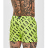Diagonal Faded Swimshorts | Neon