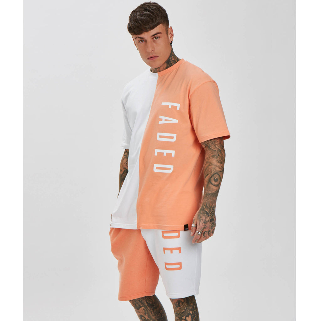 Logo Tee | Peach White