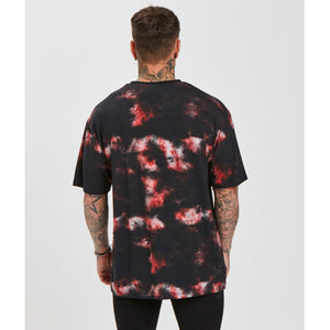 Tie Dye Tee | Black Red