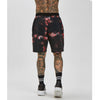 Tie Dye Shorts | Black Red