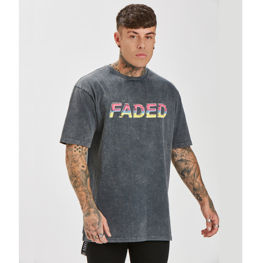Retro Tee | Acid Wash