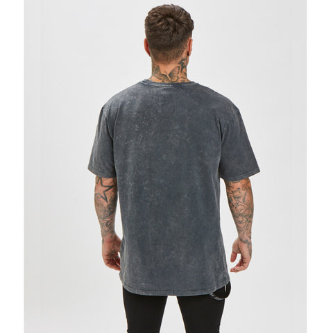 Distressed Acid Wash Tee