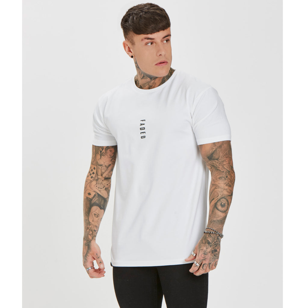 Muscle Fit Logo Tee | White