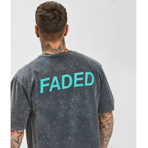 Clean Logo Acid Wash Tee