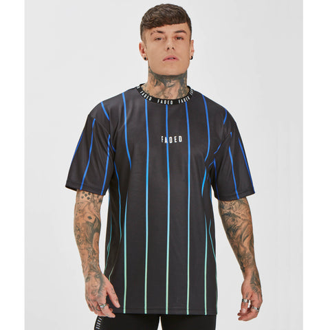 Fade Stripe Tee - Black/Teal