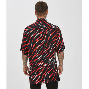 Crimson Shirt | Black Red