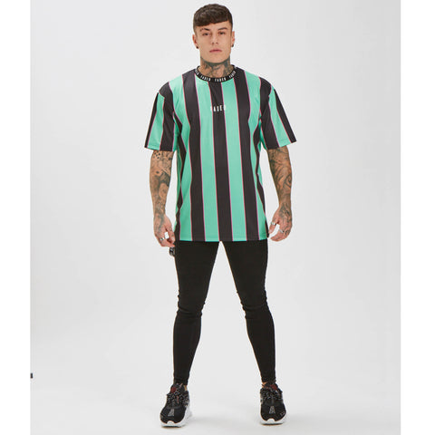 Big Stripe Tee - Black/Green/Pink