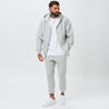 Male Model Wearing Full Grey Tracksuit