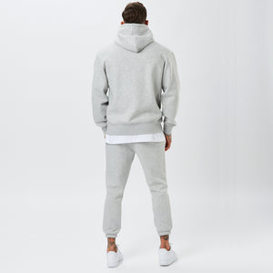 Behind View of Mens Plain Grey Tracksuit