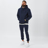 Male Model Wearing Full Navy Plain Tracksuit