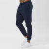 Male Model Wearing Navy Joggers From Mens Plain Tracksuit