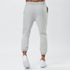 Back View of Joggers From Mens Plain Grey Tracksuit