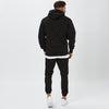 Back View of Mens Black Plain Tracksuit