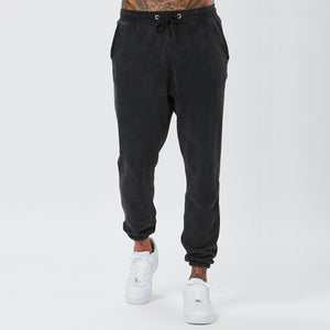 Male Model In Vintage Wash Plain Joggers