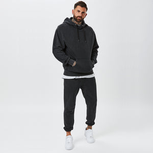 Model In Mens Plain Vintage Wash Hoody