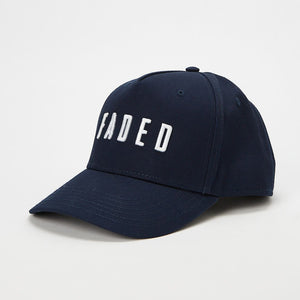 Faded Logo Curved Peak Cap | Navy