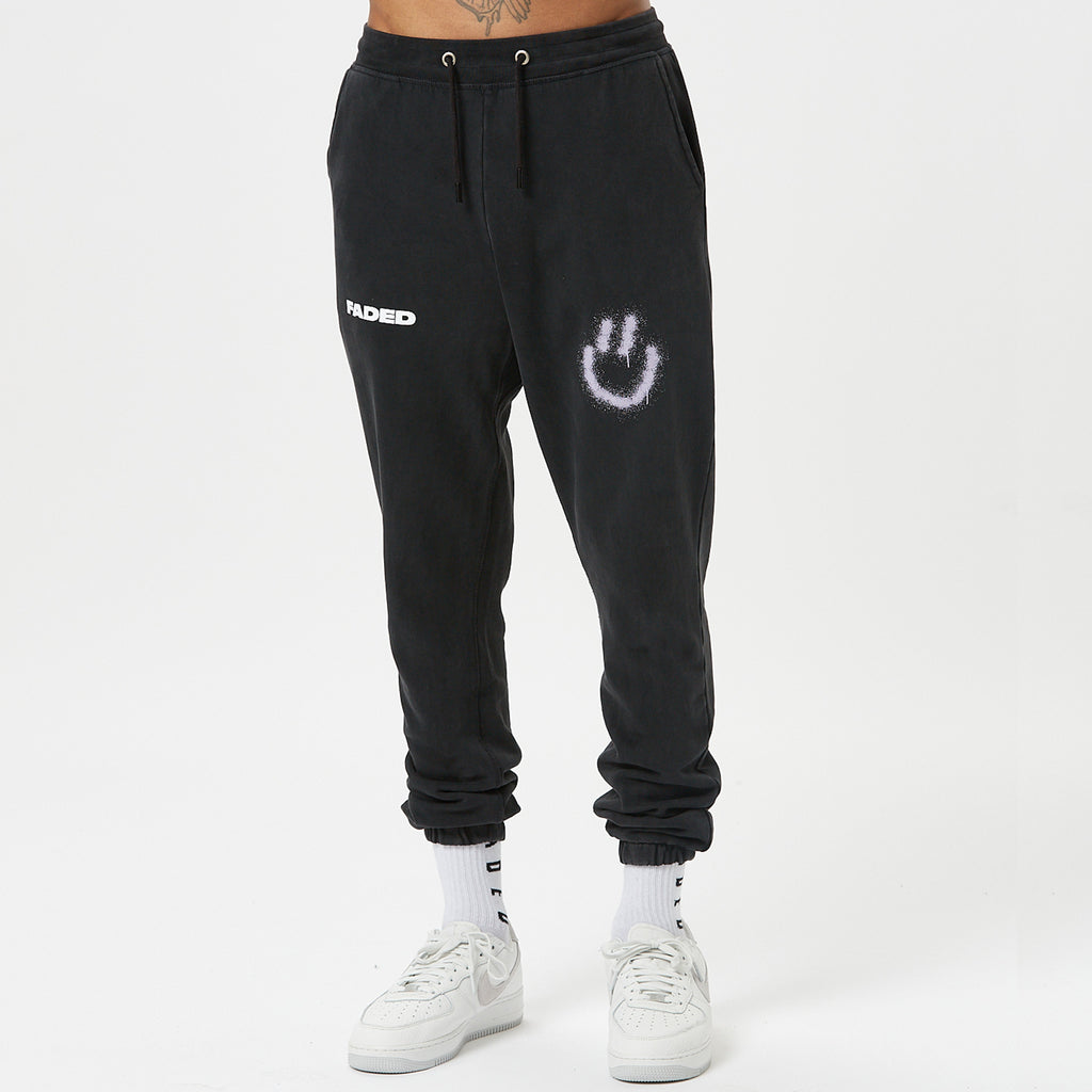 Mini Smiley Jogger | Vintage Washed Black