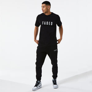 Classic Regular Fit Tee | Black/White