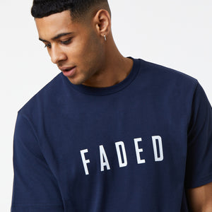 Classic Regular Fit Tee | Navy/White